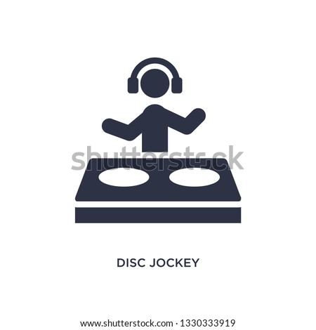disc jockey icon. Simple element illustration from activities concept. disc jockey editable symbol design on white background. Can be use for web and mobile.