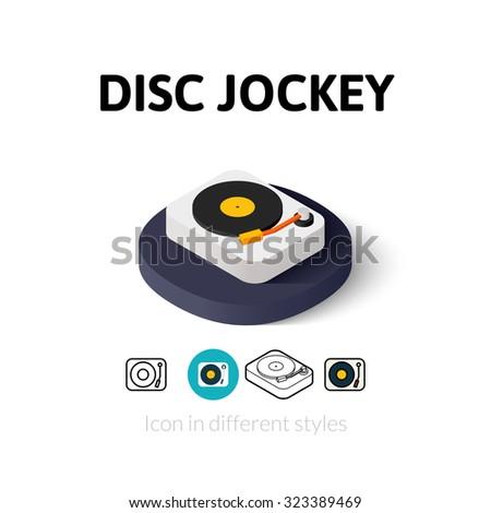 disc jockey icon  vector symbol