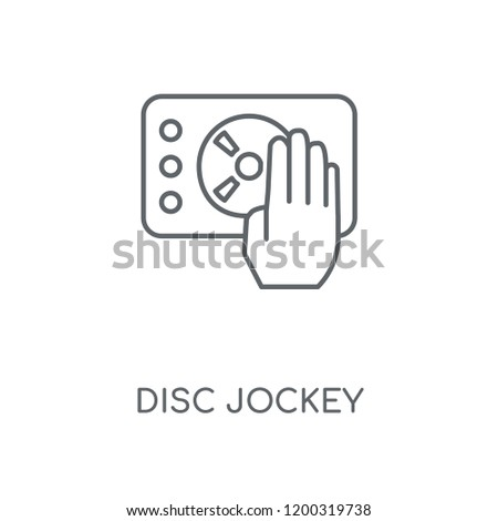 Disc jockey linear icon. Disc jockey concept stroke symbol design. Thin graphic elements vector illustration, outline pattern on a white background, eps 10.