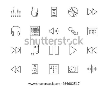 Discjockey Icons Light