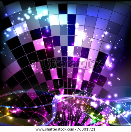 Disco - stock vector