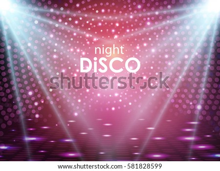 Disco Abstract Background Ball Texture Spot Light Rays