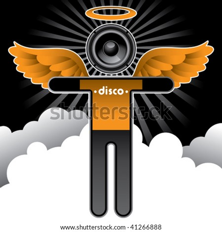 disco angel background vector