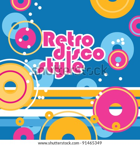 Disco background. Retro style. Vector background for your design.