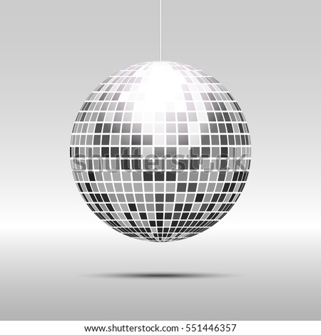 disco ball icon isolated on