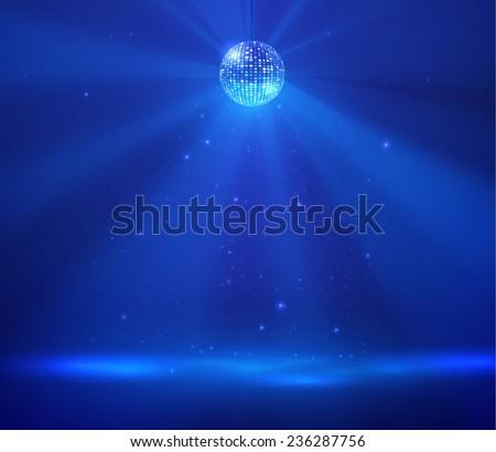 Disco ball vector background