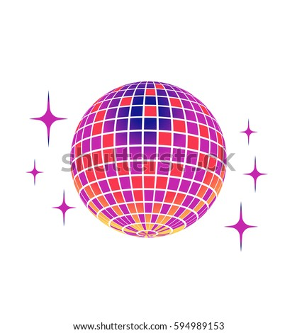 Disco ball Vector icon