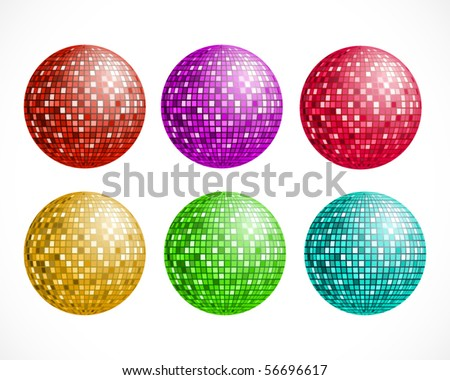 Disco ball. Vector illustration.