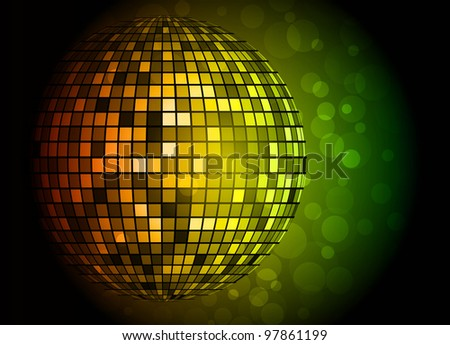Disco ball. Vector illustration. Clip-art