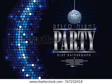 disco banner celebrating night
