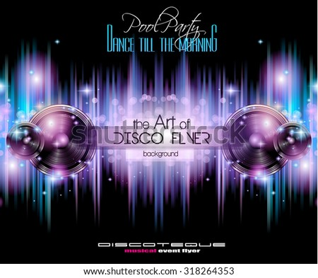 disco club flyer template for
