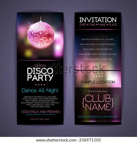 Disco Corporate identity templates. Disco background