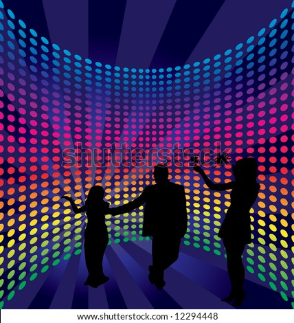 Disco dance background. Vector illustration.