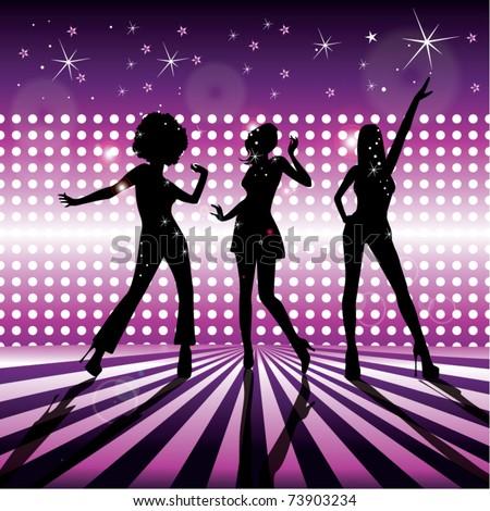 Stock Photo Disco girls vector