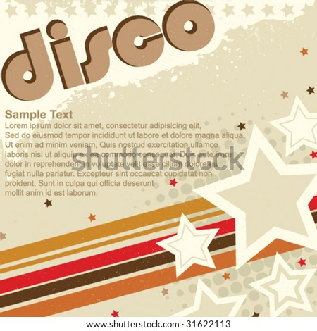 Disco Grunge Design - stock vector