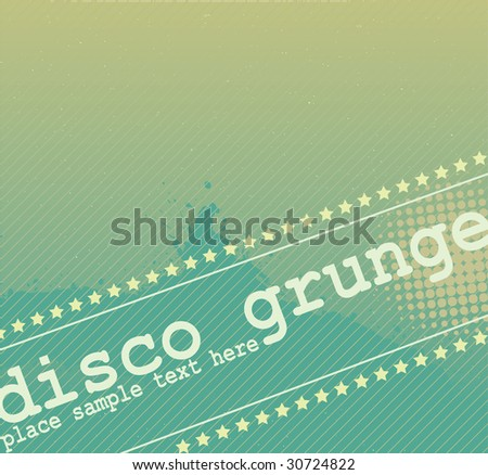 Disco Grunge Elements Design