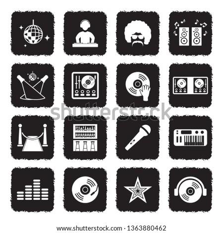 disco icons set 2 grunge
