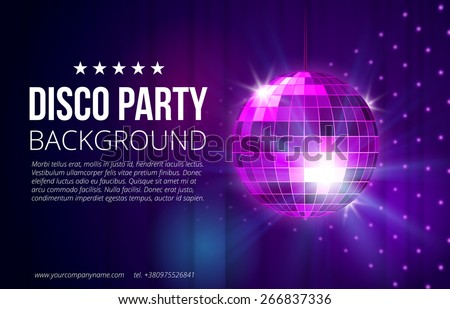 disco party background ball