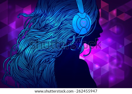 Dj Headphones Wallpaper Blue