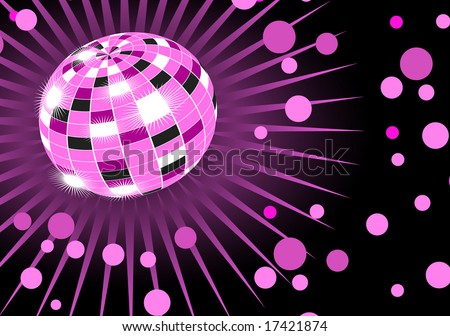 Discoball party background