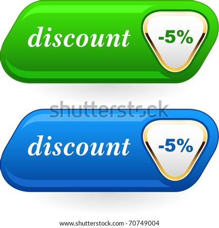Discount button templates. Vector illustration.