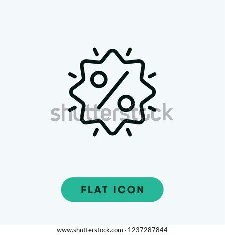 Discount cyber monday vector icon