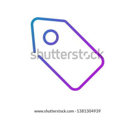 Discount. Discount tag symbol vector web icon isolated on white background, EPS 10, top view