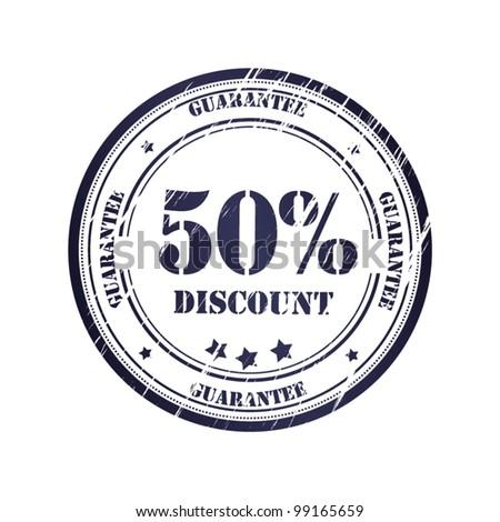Discount 50% Grunge Stamp