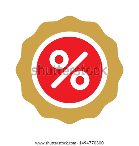 discount icon. flat illustration of discount - vector icon. discount sign symbol