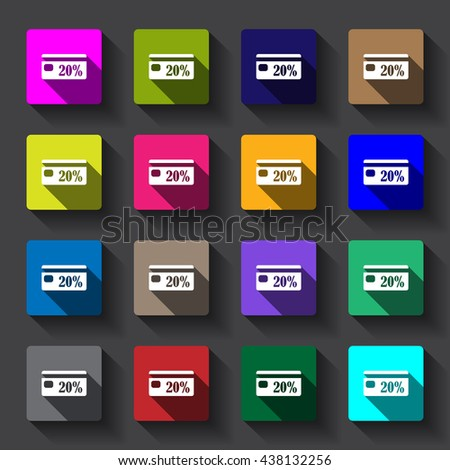 Discount Icon vector flat design #438132256