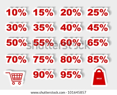 Discount label set vector for design
