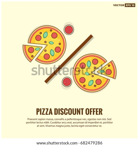 discount offer on two pizzas