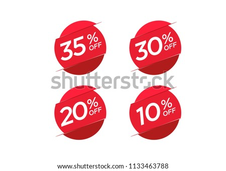 Discount offer price label, symbol for advertising campaign in retail, sale promo marketing