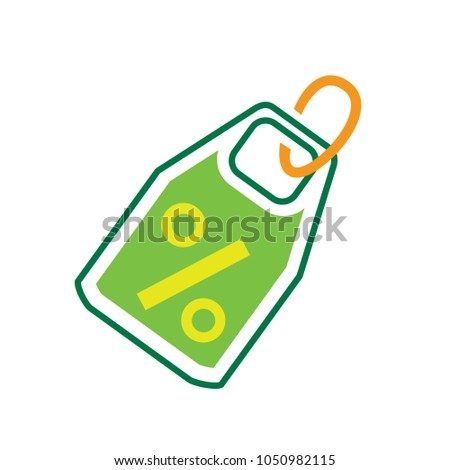 discount percent sign, vector sale percentage - price label, offer tag