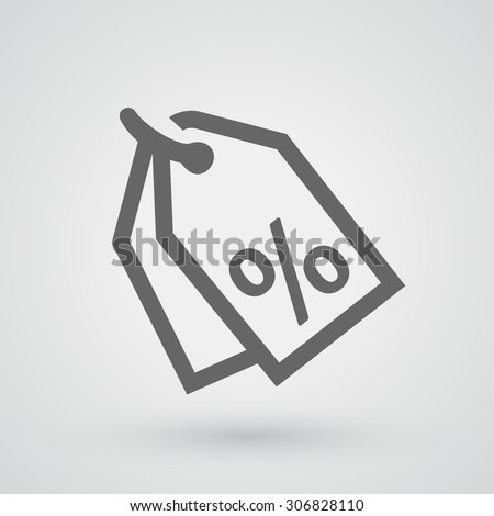 Discount percent tag icon