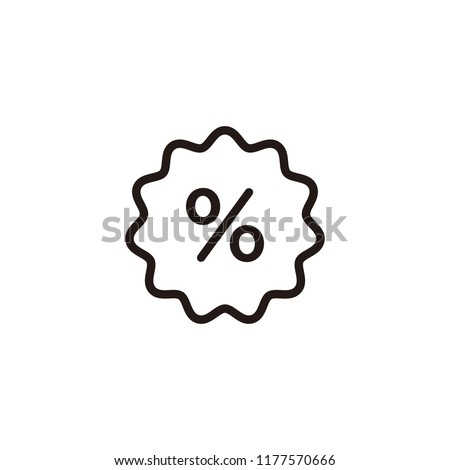Discount, percentage icon symbol