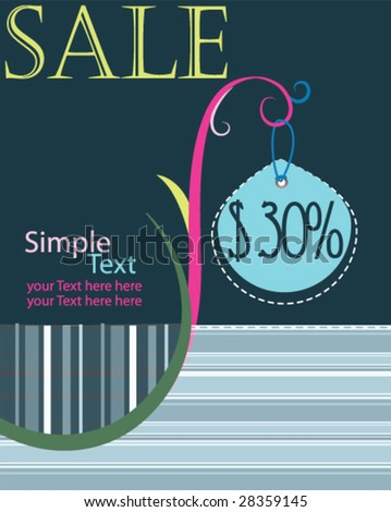Discount poster for business artwork