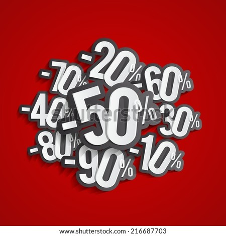 Shutterstock Discount prices vector illustration