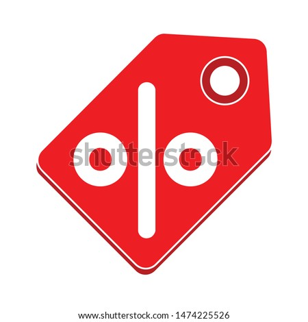 discount red tag icon. flat illustration of discount red tag vector icon. discount red tag sign symbol