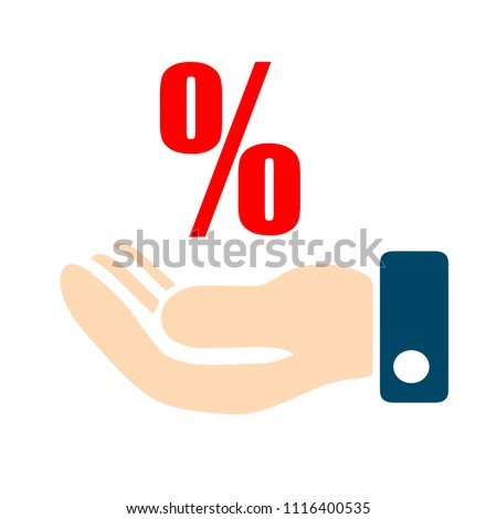 Discount sale percent sign icon, for sale sign