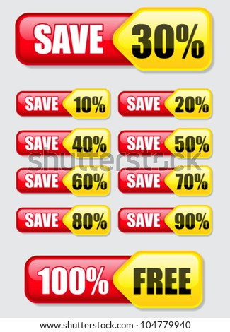 Discount / Save, Banners / Labels