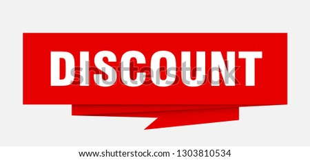 discount sign. discount paper origami speech bubble. discount tag. discount banner