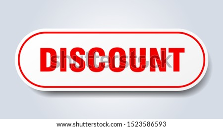 discount sign. discount rounded black-red sticker
