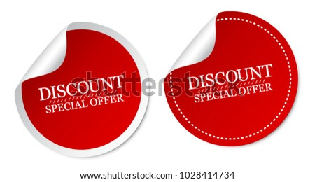 Discount Special Offer Stickers
