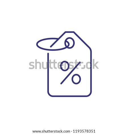 Discount tag line icon. Sale, price, special offer. Shopping concept. Vector illustration can be used for topics like retail, consumerism, commerce