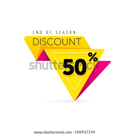 Discount tag with special offer sale sticker isolated on white background. Vector sale label with promo offer.