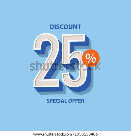 Discount up to 25% off Label Vector Template Design Illustration Foto stock ©