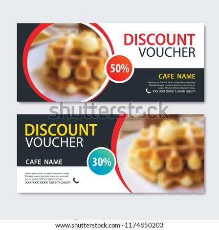 discount voucher dessert waffle
