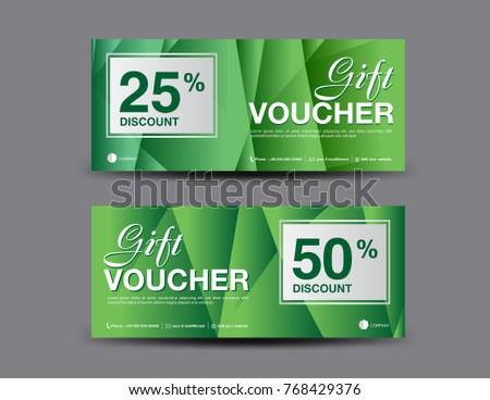minimal sale discount voucher banner template design download free