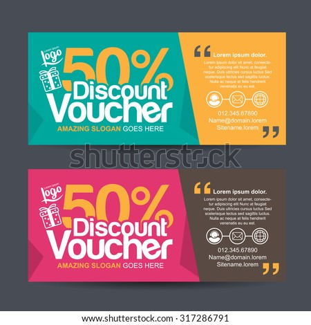 discount voucher template with colorful pattern,cute gift voucher certificate coupon design template,Collection gift certificate business card banner calling card poster,Vector illustration